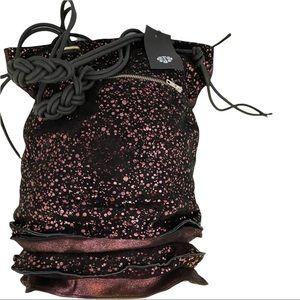 Papucei New Women's Bag Black Suede